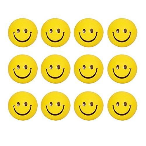 Smiley Stress Releive Squeeze Balls   Set of 12