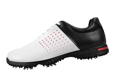 PGM Imperméables Chaussures de Golf pour Hommes avec Crampons