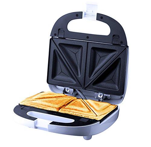 ZZ S6141 Removable Sandwich Maker with Non-Stick Plates, White