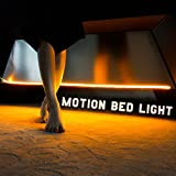 Motion Sensor Activated Night Light with Timer, LED Strip Lighting, Plug in Under Bed Light for Todder Bed Adult Bedside Lighting, Warm Soft Glow, Glare Free (Dual Strips for Queen bed)#3MSC108W
