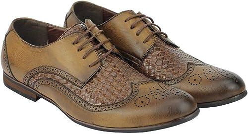 TALLA 42 EU. De Los Nuevos Hombres Inteligentes Mocasines Informal Tamaño De Los Zapatos Reino Unido 6 7 8 9 10 11 En Negro Marrón