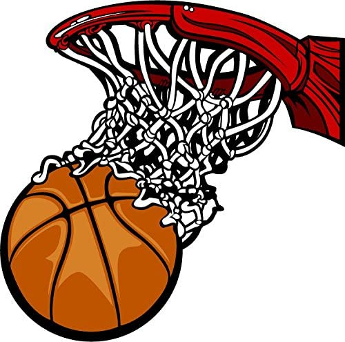 NBA Basketball Ball Basket Cartoon Sport Alta Calidad De Coche De Parachoques Etiqueta Engomada 12 x 12 cm