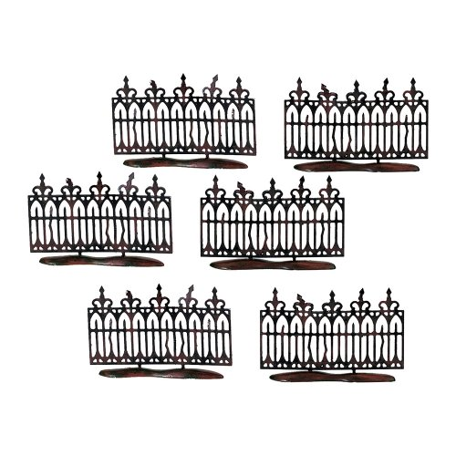 Department 56 Spooky Wrought Iron Fence (Set of 6)]()