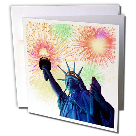 3dRose 4th Of July - Greeting Cards, 6 x 6 inches, set of 12 (gc_21834_2)