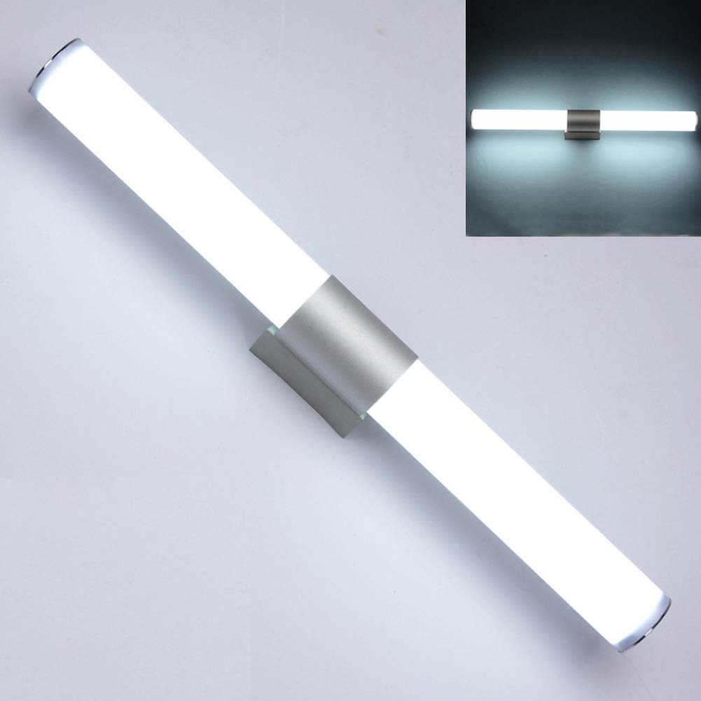 Ice Light 12//16//22 W WC Wall de pared Base de metal Soft Warm White Fixture Gabinete de acr/ílico Cuarto de ba/ño Luz LED moderna 40cm 16WLuz blanca