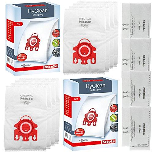 -[ Genuine MIELE FJM HyClean Vacuum Cleaner DUST BAG (x8)  ]-