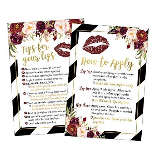 25 Lipstick Application Instructions Tips and Tricks Distributor Supplies Card Directions, Lip Sense Business Marketing Party For Lipsense Younique Mary Kay Avon Amway Seller Perfect Starter Thank You