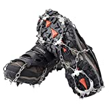 AUHIKE 19 Teeth Anti-Slip Ice & Snow Cleat Traction Cleats Grippers Crampons