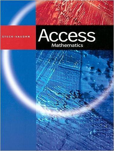Steck-Vaughn ACCESS: Student Book Math: STECK-VAUGHN