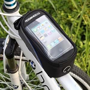 HooToo®ROSWHEEL Bolsa Frontal Bicicleta Con PVC Funda Protectora Transparente Hasta 4,8 Pulgadas Para Iphone HTC Samsung Nokia Xiaomi Y Teléfono Móvil Smartphone Azul