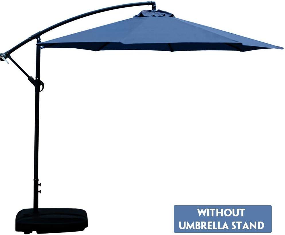 Chnrong Umbrella Cover Canopy 6.56ft 6 Ribs Patio Replacement Top Protective Sunshade Umbrella Cover Cloth for Courtyard Garden Beach Outdoor Black