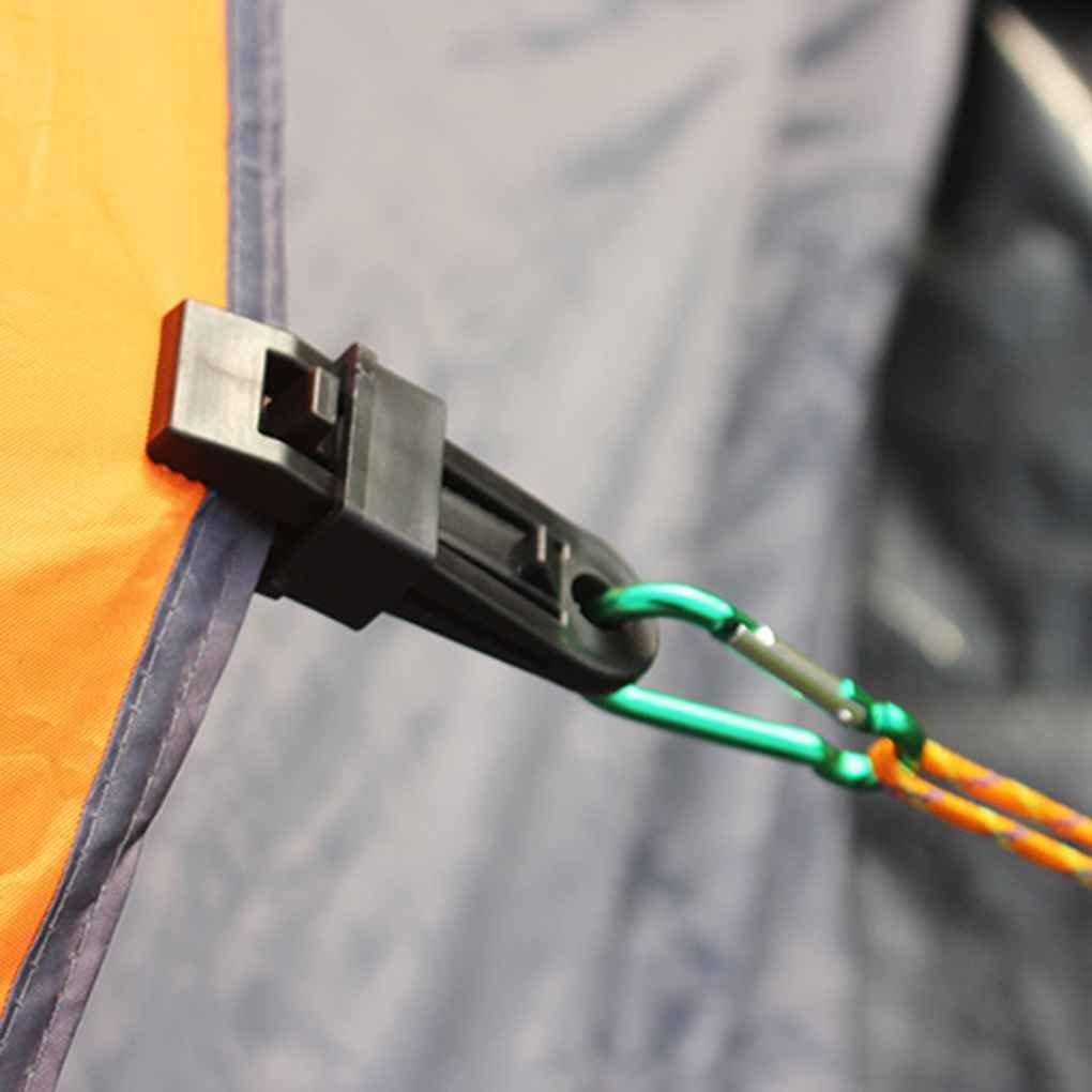ELENXS 6pcs//Set Clips Tarp Wind Corde Boucle de Serrage Tente Auvent Camping B/âche Grip Clip