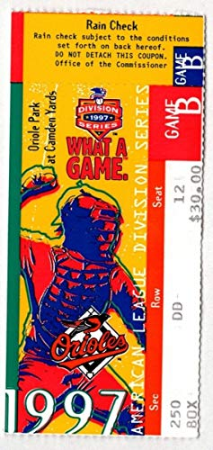 (1997 Orioles Indians ALCS Game 2 Ticket Stub Cal Ripken Jr. Home Run 129020 )