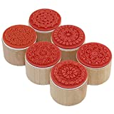 Hot Sell! 6pcs/lot Wish Stamp Wooden Rubber Stamp Floral Pattern Luck Stamps