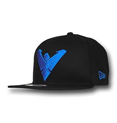 DC Comics Nightwing Symbol 9Fifty Black Snapback Cap  Amazon.co.uk ... 58ea2251a04b