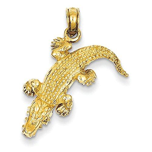 JewelryWeb 14 Carats Pendentif-Alligator
