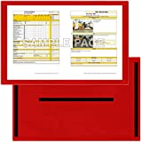 StoreSMART - Red Document Frame (Window) - Magnetic - 11'' x 17'' pages - 10-Pack - R3871M-R-10