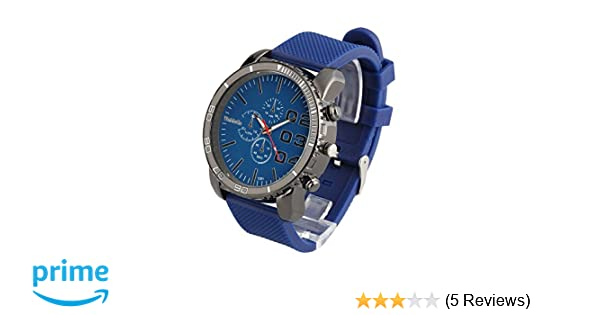 Amazon.com: ShoppeWatch Mens Large Face Watch Faux Chronograph Dial Silicone Band Reloj Para Hombre Blue SW1091BL: Watches