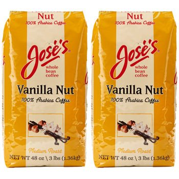 Jose's Vanilla Nut Whole Bean Coffee 3 lb. Bag 2-pack by Jose's Vanilla Nut