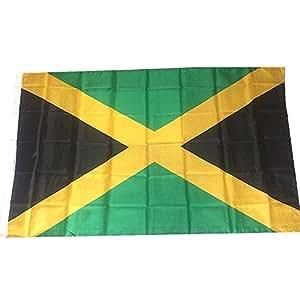 jooks Jamaica bandera nacional bandera Jamaica Europa bandera de país de bandera de sueño para casa escuela fiesta decoración 5ft x 3ft (150* 90cm)