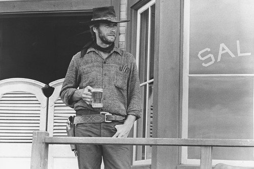 Clint Eastwood in High Plains Drifter 24x36 Poster holding glass of beer from Silverscreen
