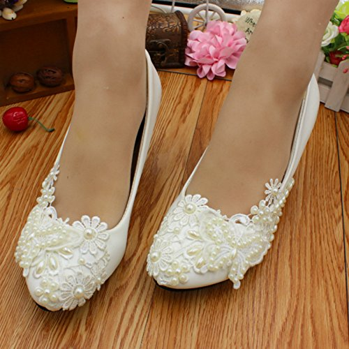 Women's Dress Si And Banquet Bride Heel Customize Shoes Party amp; 3cm Spring Bridesmaid Height Decals Summer Handmade Wedding Pearl 5F6FAwrq