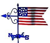 Good Directions Americana Flag Garden Weathervane with Garden Pole