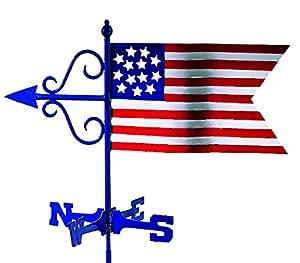 Buenas direcciones Americana bandera jardín Weathervane con jardín Polo