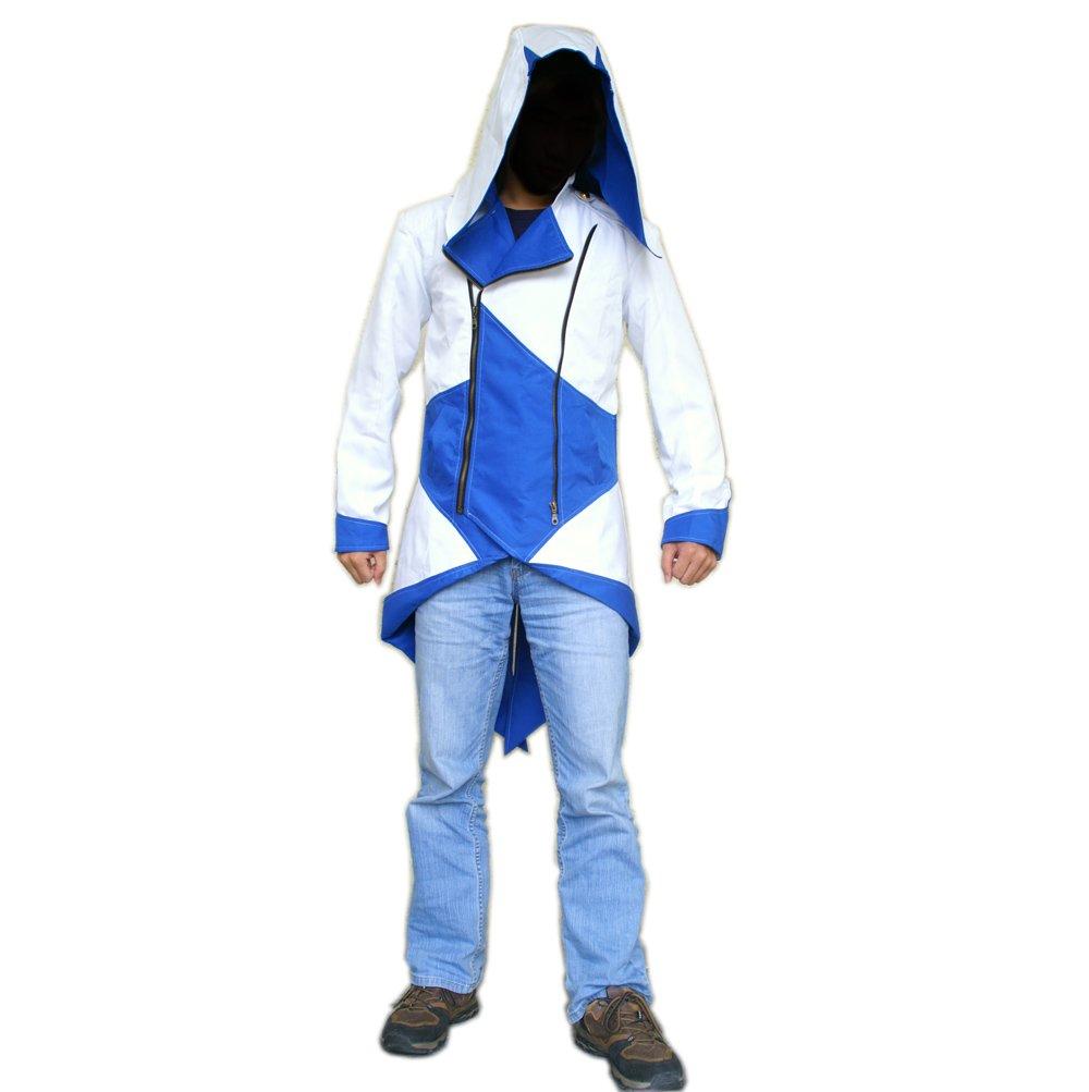 Assassins Creed chaqueta con capucha AC3 traje azul y ...
