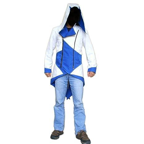 Assassins Creed chaqueta con capucha AC3 traje azul y blanco en ...