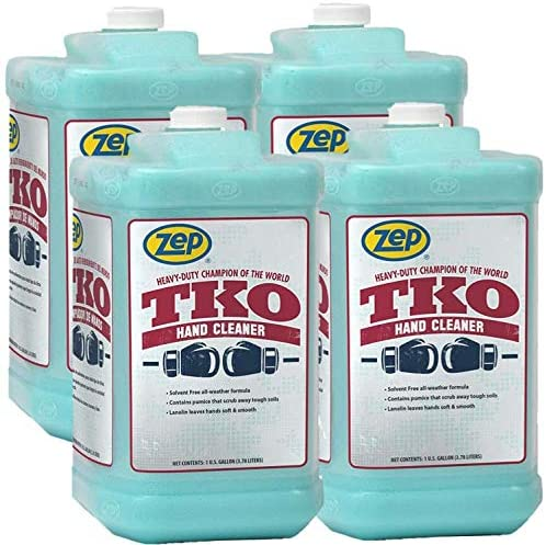 Zep Heavy-Duty TKO Hand Cleaner 128 ounces. R54824 (Case of four) Pump incorporated - The GO-TO cleaner for Pros that in fact works!
