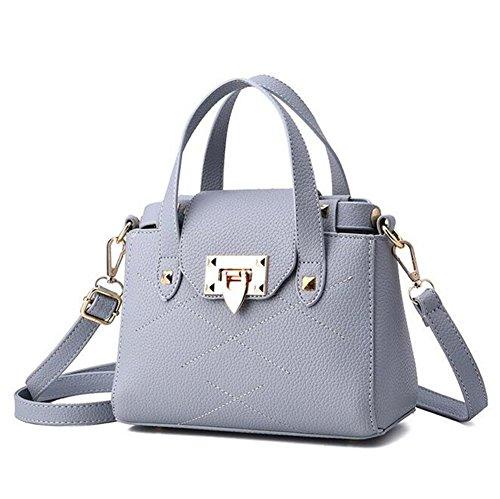 [VVeda 2016 New Bag Female Korean Fashion Handbag Shoulder Messenger Bags(Gray)] (Dance Costumes Australia Suppliers)