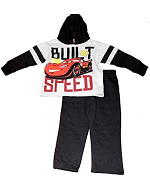 Cars Little Boys' Toddler 2 Piece Fleece Set '' Built for Speed''
