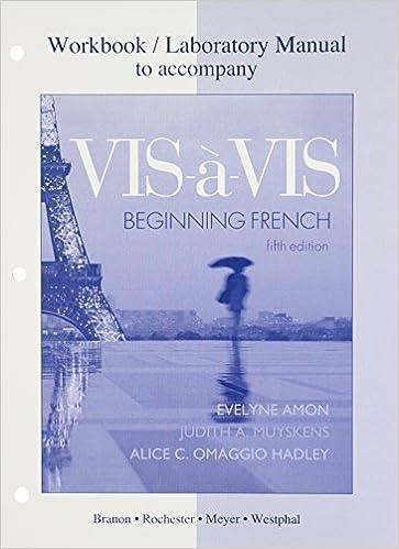 Amazon com: Workbook/Lab Manual to accompany Vis-à-vis