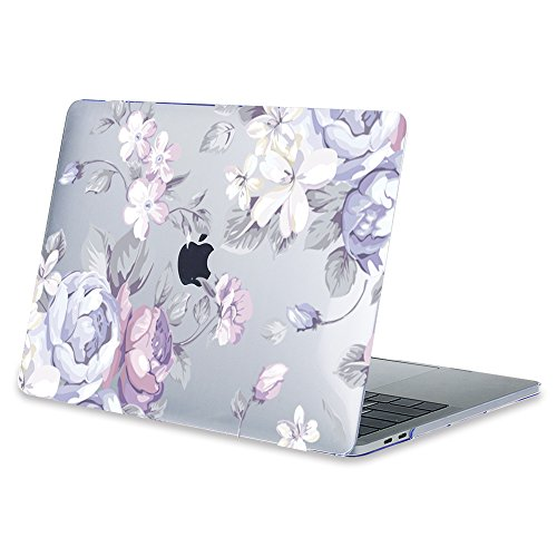 Amazon.com: Mektron Floral Print Hard Case with Dust Plug & Keyboard Cover For MacBook Air 13 Inch (Model A1369/A1466),White Flowers: Computers & ...
