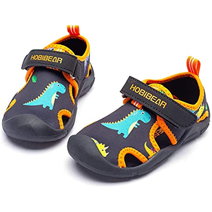 WOUEOI Toddler Boys Aqua Water Shoes Quick Dry Girls Sport Beach Swim Sandals Little Kids