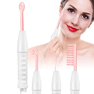 High Frequency Facial Machine, Portable Electrotherapy Instrument, High Frequency Face Device For Aging Skin Acne Hair Loss Wrinkle Reduction Body Beauty Care(US)