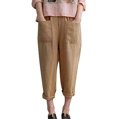 Zegeey Pantalones Anchos Mujer Verano, Pantalones de Mujer ...