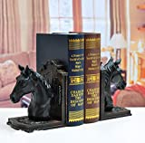 LU2000 Collections Luxury Fine Art Novelty Book Stands (Bookstand / Bookstands / Holder) Vintage Style Noble Decoration for Home - Horse Shape