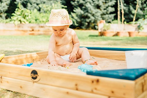 Plum Store-it Wooden Sand Box with Storage Bench and Seating by Plum (Image #5)