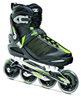 Roces Herren Inlineskates Argon, Black-Acid Green, 44, 400765-001