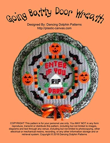 Going Batty Door Wreath: Plastic Canvas Pattern]()