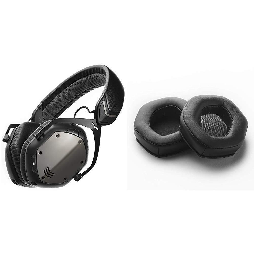 V-MODA Crossfade Wireless Over-Ear Headphone & XL Black Memory Cushions