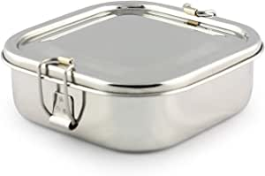 royal sapphire Stainless Steel Lunch Box For Kids | SQUARE Bento Lunchbox - Eco friendly, Dishwasher Safe, BPA free