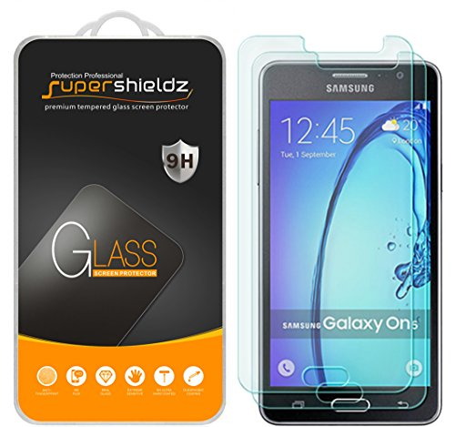 [2-Pack] Supershieldz for Samsung Galaxy On5 Tempered Glass Screen Protector, Anti-Scratch, Anti-Fingerprint, Bubble Free, Lifetime Replacement Warranty  samsung on5 screen protector | Samsung ON5 Pro – How to fix glass on screen for protection 517 IPHvAsL