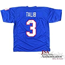 Aqib Talib Autographed/Signed NCAA University of Kansas Jayhawks Blue Custom Jersey