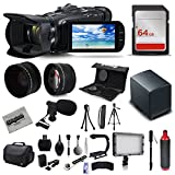 Canon VIXIA HF G40 Full HD Camcorder + Mic + Extra Battery + 64GB + Bag + Case + Telephoto Lens + Filter Kit + XGrip + SD Reader + Professional Accessory Bundle Kit