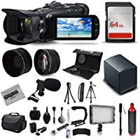 Canon VIXIA HF G40 Full HD Camcorder + Mic + Extra Battery + 64GB + Bag + Case + Telephoto Lens + Filter Kit + XGrip + SD Reader + Professional Accessory Bundle Kit