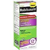 Robitussin Adult (8 fl. oz. Bottle) Maximum Strength Severe Cough + Sore Throat Relief Medicine, Cough Suppressant, Acetaminophen