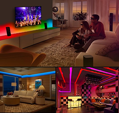 Large Product Image of MINGER DreamColor LED Strip Lights Built-in IC, 16.4ft/5m LED Lights Sync to Music, Waterproof RGB Rope Light with APP, 150 LEDs SMD 5050 Flexible Strip Lighting, LED Tape Lights, DC 12V UL Listed
